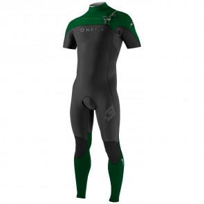 O'Neill HyperFreak 2mm Short Sleeve Full Wetsuit - Black/Combat/Lunar