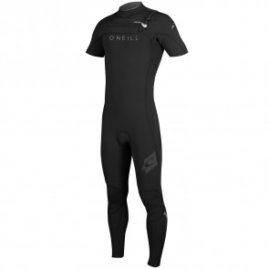 O'Neill HyperFreak 2mm Short Sleeve Full Wetsuit - Black/Lunar