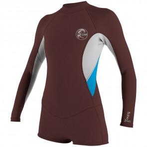 O'Neill Women's Bahia 2/1 Long Sleeve Short Spring Wetsuit - Myers/Lunar/Sky