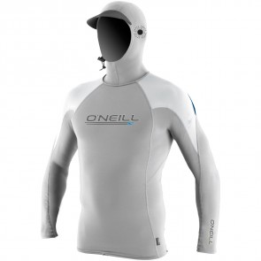 O'Neill Wetsuits O'Zone Tech Hooded Crew - Lunar/White/Deep Sea