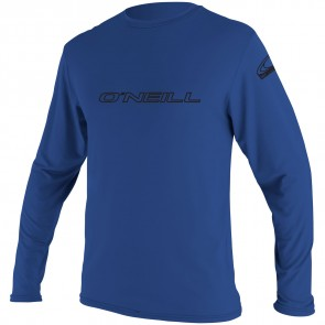O'Neill Wetsuits Basic Skins Long Sleeve Rash Tee - Pacific
