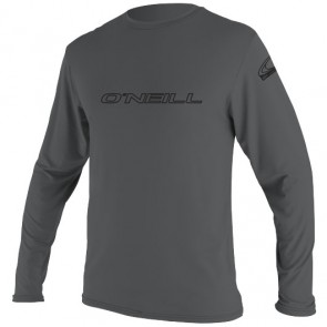 O'Neill Wetsuits Basic Skins Long Sleeve Rash Tee - Smoke