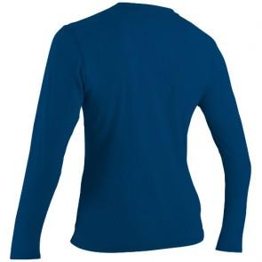 O'Neill Wetsuits Women's Basic Skins Long Sleeve Rash Tee - Deep Sea