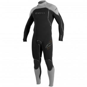 O'Neill Psycho I 4/3 Back Zip Wetsuit - Black/Lunar/Blaze