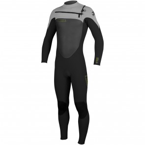 O'Neill SuperFreak 4/3 Chest Zip Wetsuit - Black/Lunar