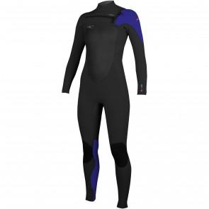 O'Neill Women's SuperFreak 4/3 Wetsuit - Black/Cobalt/Berry