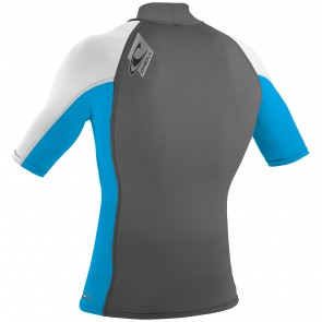 O'Neill Wetsuits Skins Short Sleeve Turtleneck - Graphite/Sky