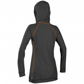 O'Neill Women's 24/7 Full Zip Long Sleeve Cover Up - Graphite/Papaya