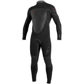 O'Neill Psycho Freak 4/3 Back Zip Wetsuit - Black/Red