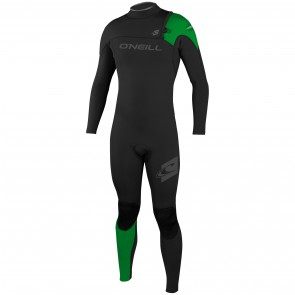 O'Neill HyperFreak Comp 4/3 Zipless Wetsuit - Black/Green