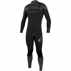O'Neill Psycho I 4/3 Chest Zip Wetsuit - Black/Graphite/DayGlo