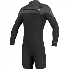 O'Neill HyperFreak 2mm Long Sleeve Spring Wetsuit - Black/Graphite/Neon Red