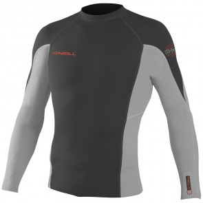 O'Neill Wetsuits HyperFreak 0.5mm Jacket - Graphite/Lunar/Neon Red