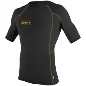O'Neill Wetsuits Skins Graphic Short Sleeve Crew - Black