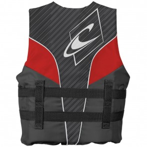 O'Neill Youth Superlite USCG PFD Vest - Smoke/Graphite/Red
