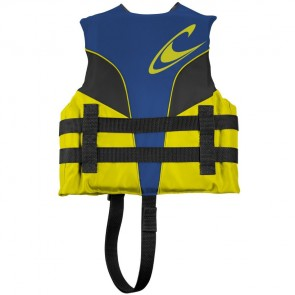 O'Neill Child Superlite USCG PFD Vest - Pacific/Yellow/Black