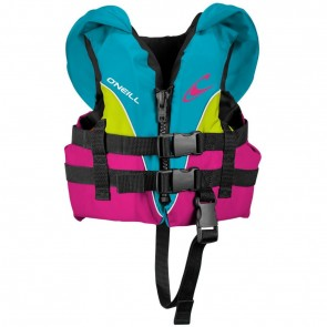 O'Neill Infant Superlite USCG PFD Vest - Turquoise/Berry/Lime
