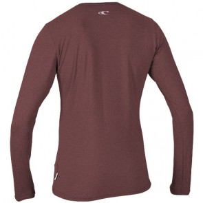 O'Neill Wetsuits Women's Hybrid Long Sleeve Rash Tee - Mesa Rose