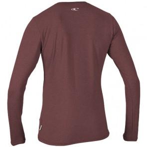 O'Neill Wetsuits Women's Hybrid Long Sleeve Rash Tee - Mesa Rose