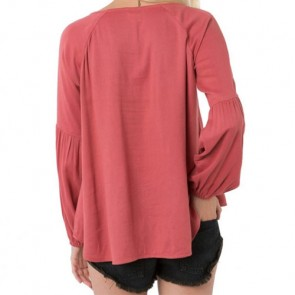 O'Neill Women's Dylan Long Sleeve Top - Strawberry