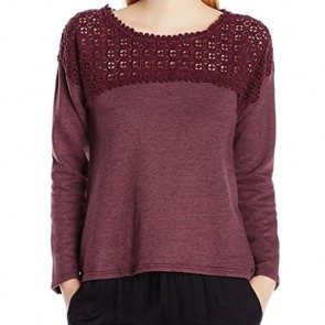O'Neill Women's Partington Long Sleeve Top - Berry