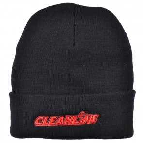 Cleanline Corp Logo Long Beanie - Black/Red