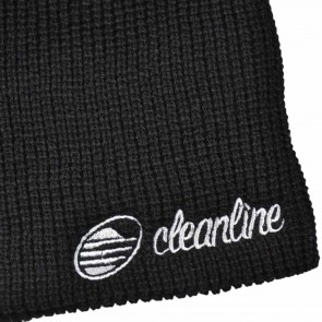 Cleanline Cursive Knit Beanie - Black/Grey