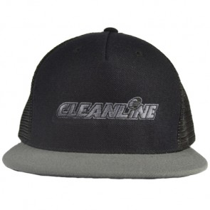 Cleanline Corp Logo Flat-Bill Mesh Hat - Black/Grey