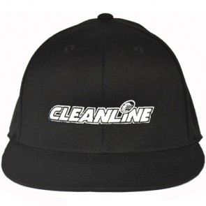 Cleanline Embroidered Corp Logo Cannon Beach Hat - Black/White