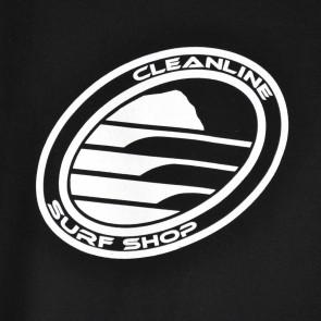 Cleanline Corp Logo/Big Rock Hoodie - Black/White
