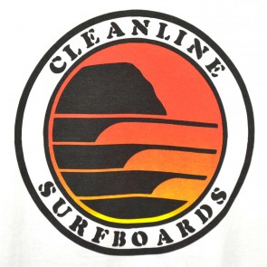 Cleanline Sunset Circle Pocket T-Shirt - White