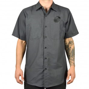 Cleanline New Rock Short Sleeve Work Shirt - Charcoal