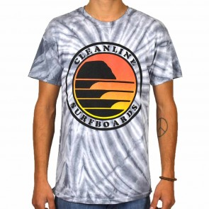 Cleanline Sunset Circle T-Shirt - Silver Tie Dye