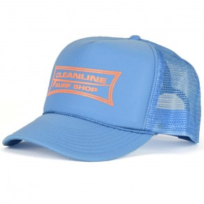 Cleanline Longboard Mesh Hat - Blue/Flo Orange