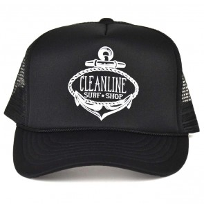 Cleanline Anchor Trucker Hat - Black/White