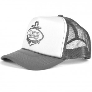 Cleanline Anchor Trucker Hat - Charcoal/White