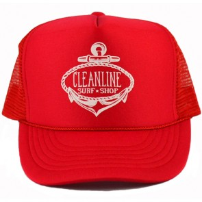 Cleanline Anchor Mesh Hat - Red/White