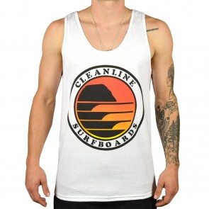 Cleanline Sunset Circle Tank - White