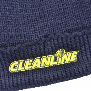 Cleanline Corp Logo Naval Beanie - Navy/Yellow