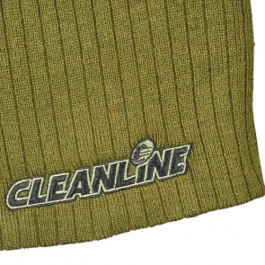 Cleanline Corp Logo Short Cable Beanie - Olive/Black