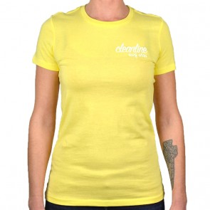 Cleanline Women's Cursive/Big Rock Top - Yellow/White
