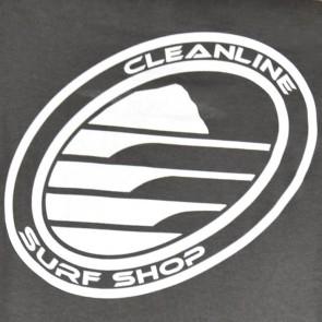 Cleanline Women's Corp Logo/Big Rock Top - Asphalt