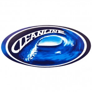 Cleanline Surf Oval Wave Sticker