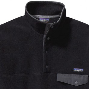 Patagonia Synchilla Snap-T Fleece Pullover - Black/Forge Grey