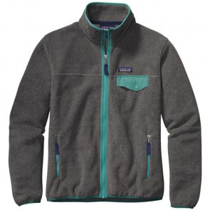 Patagonia Women's Full-Zip Snap-T Fleece Jacket - Nickel/Mogul Blue