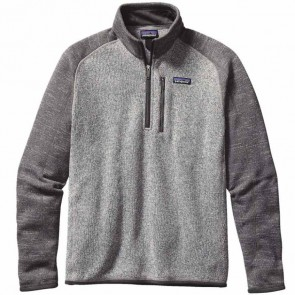 Patagonia Better Sweater 1/4 Zip Fleece - Nickel/Forge Grey
