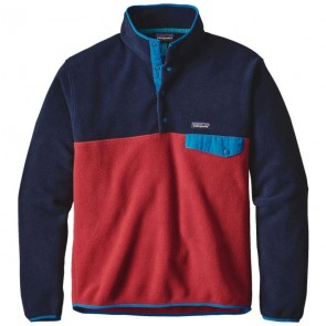Patagonia Lightweight Synchilla Snap-T Fleece Pullover - Raspen Red