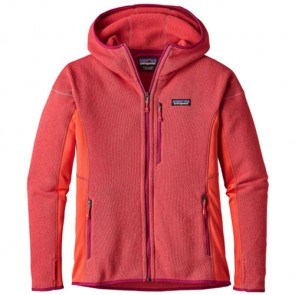 Patagonia Women's Performance Better Sweater Fleece Hoody - Carve Coral