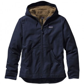 Patagonia Lined Canvas Hooded Jacket - Navy Blue