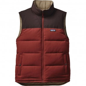 Patagonia Reversible Bivy Down Vest - Navy Blue/Ramble Red
